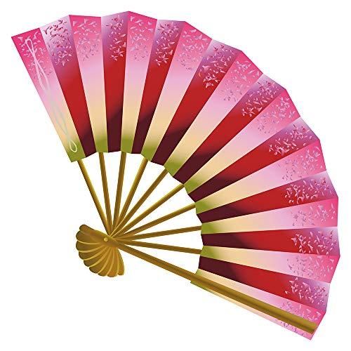 dekodino® Wandtattoo Asien Handfächer in tollen Farben Wanddekoration