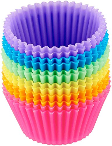 AmazonBasics Reusable Silicone Baking Cups