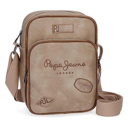 Pepe Jeans Duetone 6675753 Bolso Bandolera, 25 cm, 2.93 Litros, Marrón