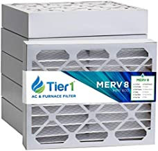 Tier1 Pleated Air Filter - 20x25x4 - MERV 8 - Captures Dust & Pollen in Air Conditioner/Furnace - Reduces Harmful Airborne Particles for Improved Air Quality - 6 Pack