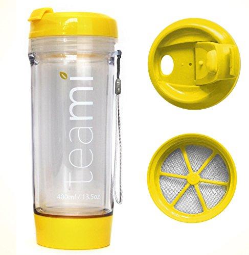 Teami Trinkbecher, BPA-frei, Kunststoff, gelb, 350 ml