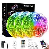 LED Strip Lights 150ft, RGB Color Changing by 44key Remote, LED Strip Lights Music Sync,Smart LED Strip Lights for Bedroom 150feet