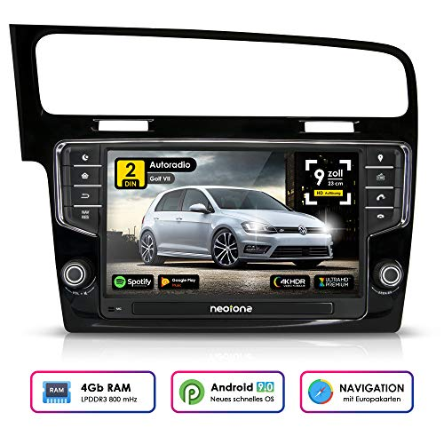 NEOTONE WRX-906G7 autoradio voor VW Golf 7 (vanaf 2012 -) Can-Bus | Android 9 Pie | Navigatie met Europese kaarten | DAB+ | 4GB RAM | 32GB ROM | Octa-Core | 4K Ultra HD | WLAN | Bluetooth | RDS