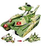 Jiada 2 in 1 Convertible Plastic Tank and Jet Fighter Airplane Toy