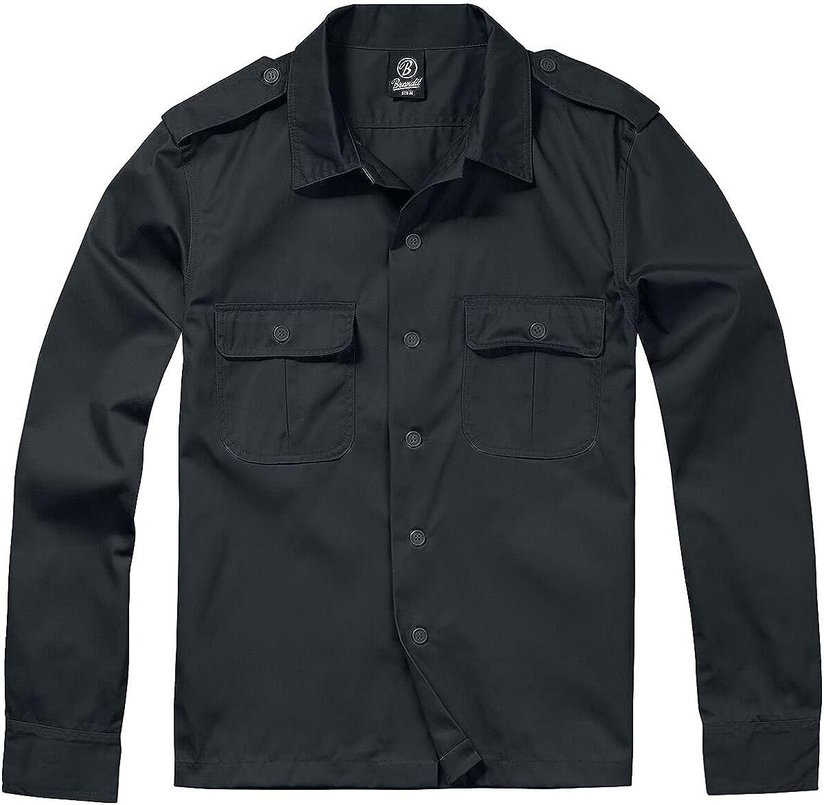 Brandit Men's Shirt 1/1 Long Sleeve Black