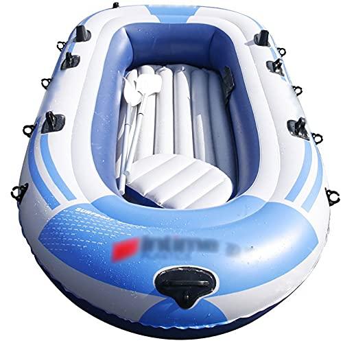 ReedG Kayac Barco de Pesca Inflable de múltiples Personas duraderas Kayak Barco Inflable al Aire Libre fácil de Llevar Bote Inflable (Color : Gray, Tamaño : 272x152cm)
