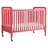 Product Image of the DaVinci Jenny Lind 3-in-1 Convertible Portable Crib in Coral - 4 Adjustable...