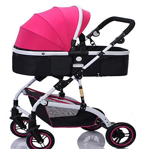 Lowest Price! Baby Stroller Star Month High Landscape Shock Baby Stroller Two-Way Sitting Folding Ba...