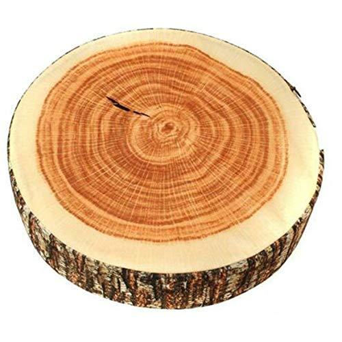 GGQT Creative Natural Woods Design Log Soft Chair Cushion Pillows Gift Home Sofa