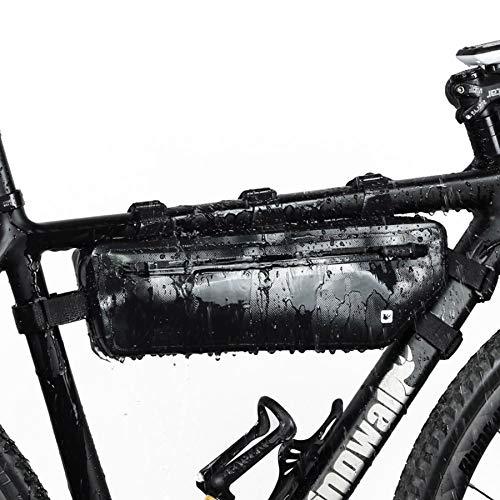 Selighting Bolsa Bicicleta Bolsa Triángulo Bici Impermeable Bolsa Tubo Bicicleta Bolsas Manillar de Bicicleta Montaña Triangular del Bolso de TopTube para Mountain Road MTB Bike (Negro)