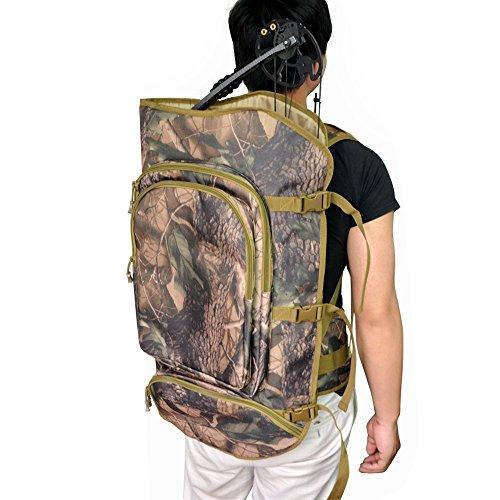 SHARROW Compoundbogen Rucksack Bogentasche Compound Bogen Tasche Jagdtasche Tragetasche (Camo)