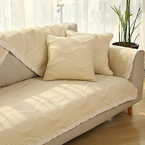 AINH Baumwoll-Sofa-Schonbezug, rutschfest, für alle Jahreszeiten, universell, waschbar, für Wohnzimmer, 110 x 110 cm