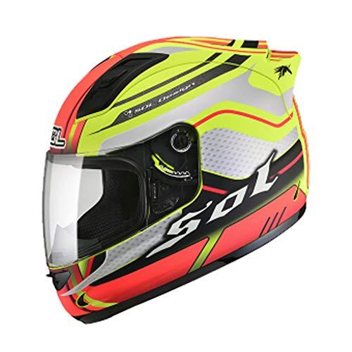 Casque moto hommes et femmes casque intégral de locomotive quatre saisons casque de course kart casque de course (Couleur : B-Xxl61-62cm)