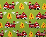 Glünz Jersey Feuerwehr grün / 0,5m / Kinderstoff / 15,60