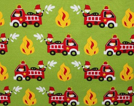 Glünz Jersey Feuerwehr grün / 0,5m / Kinderstoff / 15,60 €/m