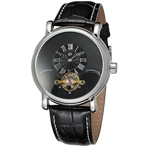 Forsining Hombres Colección Reloj de Pulsera de Marca Correa de Piel analógico Dial...
