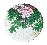 GODHL Bambú chino Oriental paraguas sombrilla danza clásica paraguas peonía