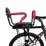 Asiento para NiñOs En Bicicleta, Asiento De Seguridad para NiñOs Desmontable con Reposabrazos Y Asiento Acolchado, CojíN del Asiento Trasero, Adecuado para NiñOs De 2 A 6 AñOs
