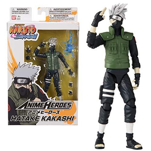 BANDAI Heroes – Naruto Shippuden – Anime-Heldenfiguren 17cm – Kakashi Hatake – 36903, Mehrfarbig