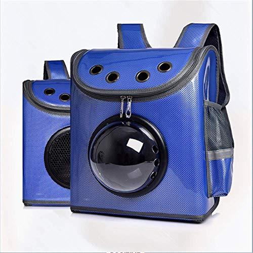 Sywlwxkq Pet Sling, rugzak voor dieren, draagbaar, Oxford, stof, handtas, transparant, grote ruimte, ademend, comfortabel, duurzaam, waterdicht, verstelbaar, wasbaar, Blauw