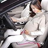 Rovtop Cintura di Sicurezza per Donna Incinta Regolabile, Cuscino da Auto con Cintura per Donne in Gravidanza, Lunghezza Regolabile e Cuscino Comodo