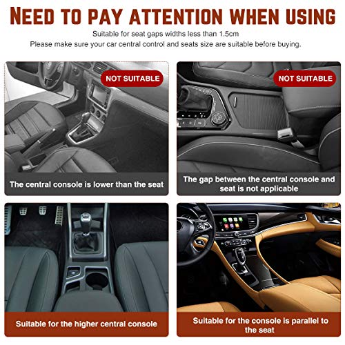 CHARMINER Car Seat Gap Filler, Premium Console Side Pocket with 2 USB Charging, 2 PCS Multifunctional Car Console Side Organizer with Cup Holder for Cellphones Wallet Coin Key (Black)