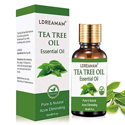 Aceite esencial de árbol de té, aceite de acné natural, para la apl