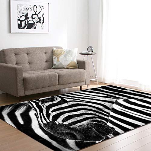 MATGHN Netter Frecher Zebra-Bereich Teppich, Dschungel-tierzebra-Polyester-Teppich-Matte Für Wohnzimmer Schlafzimmer Dekorativ,A,200x150cm