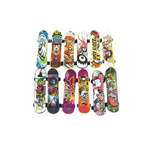 Applyvt Finger Spielzeug Kinder,pädagogisches Spielzeug,Farbenfroh Mini Fingerspielzeug Mit Skateboards, Langlebig| Mini Finger Skateboards Für Jungen Geburtstagsgeschenk Dekoration
