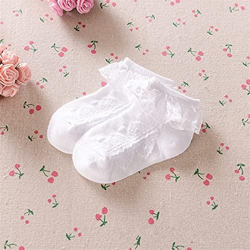 OUBALA Niño niño niño niñas Encaje Tobillo Vestido de algodón Calcetines Princesa Flor Calcetines (Color : White, Size : 0 to 12M)