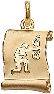 18 carats Lucida Gold Balance Pendentif Plaqu/é Or 750//000 Horoscope ISADY - Zodiaque