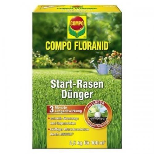 COMPO Floranid Start-Rasendünger 2,5 kg, Volldünger, Langzeitdünger