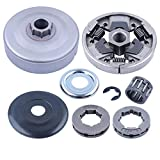 Adefol Clutch Drum Rim Sprocket Kit for Stihl 026 MS260 024 MS240 Chainsaw 325-7 325-8 Replace Parts 112 1160 2051