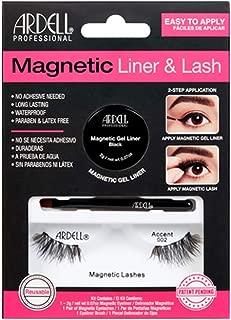 Ardell Magnetic Gel EyeLiner & False Lashes, Accent 002, 1 set