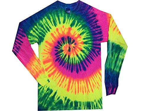 Colortone Tie Dye L/S 3X Neon Rainbow