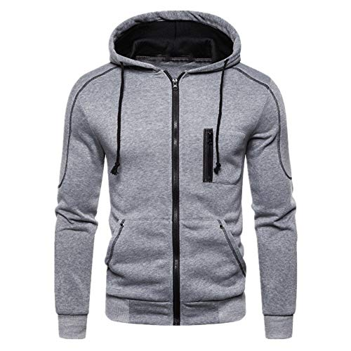 Herren Hoodie Sweatshirt Zip Hoodie Langarm Kapuzenpullover Sport Style Casual Daily Model Choice Herren Langarm Strickjacke mit Kapuze XL