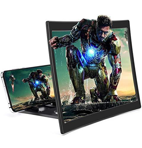 LJ-EXPLOSIVE Lupa de Pantalla Universal para teléfono móvil,visualización 3D curvada para móvil,Screen Magnifier 12 Pulgadas Screen...