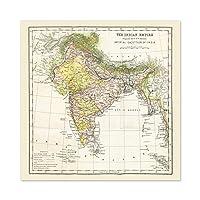 Map Hunter Imperial Gazetteer India Empire Large Wall Art Poster Print Thick Paper 24X24 Inch 地図インド帝国壁ポスター印刷