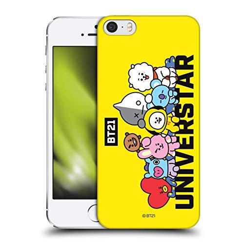Head Case Designs Licenza Ufficiale BT21 Line Friends Universtar La Gang Cover Dura per Parte Posteriore Compatibile con Apple iPhone 5 / iPhone 5s / iPhone SE 2016