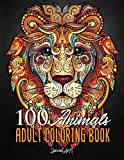 100 Animals: An Adult Coloring Book with more...