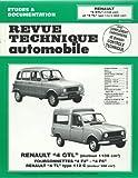 Revue technique automobile, n° 388.5 - Renault 4 GTL (moteur 1108 cm³), fourgonnettes 4 F4, 4 F6, Renault 4 TL type 112 C (moteur 956 cm³)