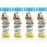 Kéranove - Blond Vacances - Shampoing Éclaircissant Progressif à l'Huile de Monoï/de Camomille - Lot de 4