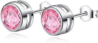 Delicate Crystal Stud Earring Sparkling Geometric AAA Cubic Zirconia Pierced Ear Jewelry for Women