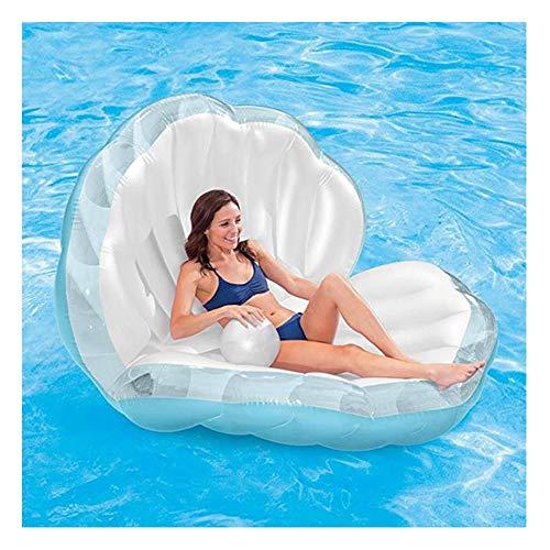 JUZIWEI Shell Meerjungfrau Aufblasbar Luftmatratze Aufblasbarer Schwimmtier Pool Floß Schwimmen Luftmatratze Wasserspielzeug Strand Ozean Spielzeug Outdoor Für Kinder Erwachsene Mädchen
