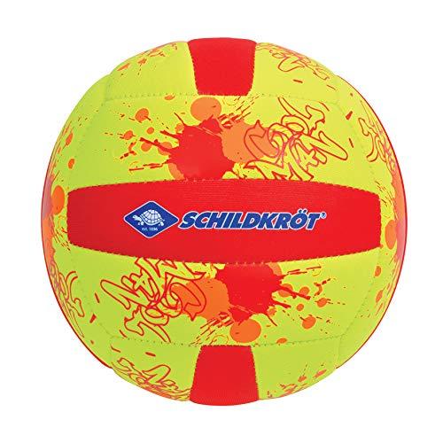 Schildkröt Funsports Neopren Mini-Beachvolleyball GR. 2 Ø 15cm, Kleiner Volleyball, 970275, Gelb-Rot, 2