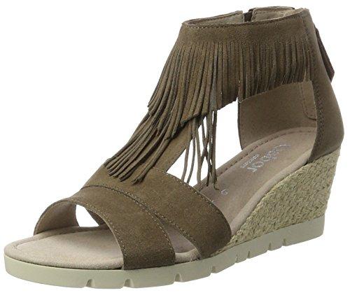 Gabor Shoes Damen Comfort Plateau, Braun (Wallaby (Jute) 32), 38 EU