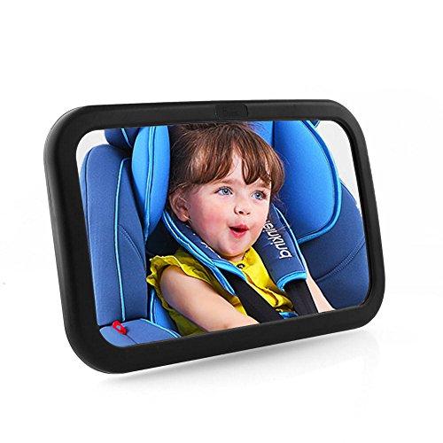 YZCX Espejo Retrovisor Bebe Coche 360/° Ajustable Irrompible Interior Espejo Coche Beb/é Espejo de Asiento Trasero para Vigilar al Beb/é en el Coche