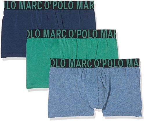 Marc O'Polo Body & Beach Herren Retroshorts Multipack M-Shorts 3-Pack, 3Er Pack (Grün 700), Large (Herstellergröße L)