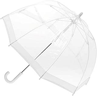 Clifton Umbrellas Kids' White Trim Birdcage Umbrella, PVC, Kid Friendly, White