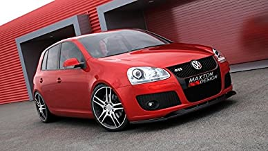 Maxton Design Front Splitter Compatible with VW Golf MK5 GTI